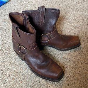 Women's short Frye harness boots